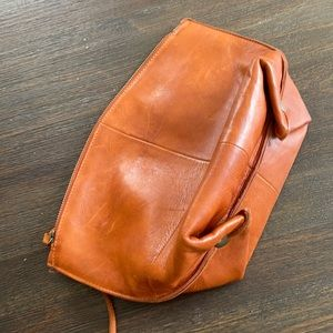 Anthropologie leather clutch